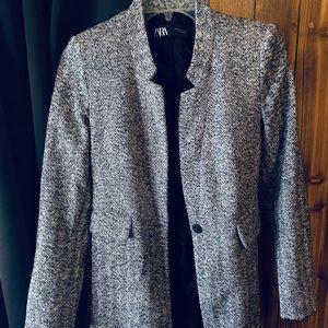 ZARA grey peppered blazer coat
